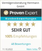 Erfahrungen & Bewertungen zu Vermögensberatung Herrmann GmbH