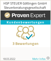 Erfahrungen & Bewertungen zu HSP STEUER Göttingen GmbH Steuerberatungsgesellschaft