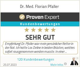 Erfahrungen & Bewertungen zu Dr. Med. Florian Pfaller