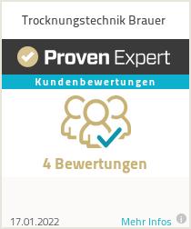 Erfahrungen & Bewertungen zu Trocknungstechnik Brauer