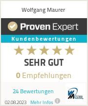 Erfahrungen & Bewertungen zu Wolfgang Maurer