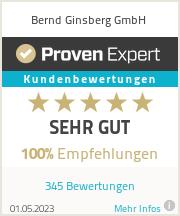 Erfahrungen & Bewertungen zu Bernd Ginsberg GmbH