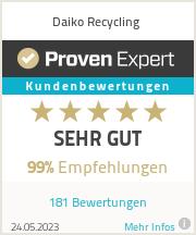 Erfahrungen & Bewertungen zu Daiko Recycling