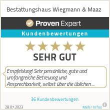 Erfahrungen & Bewertungen zu Bestattungshaus Wiegmann & Maaz