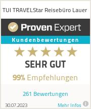 Erfahrungen & Bewertungen zu TUI TRAVELStar Reisebüro Lauer