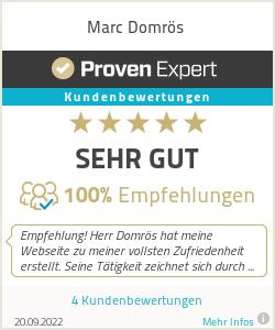 Erfahrungen & Bewertungen zu Marc Domrös