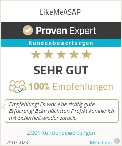 Erfahrungen & Bewertungen zu LikeMeASAP
