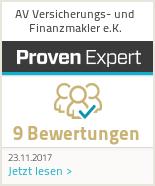 Erfahrungen & Bewertungen zu AV Versicherungs- und Finanzmakler e.K.