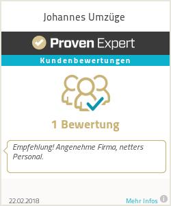 Erfahrungen & Bewertungen zu Johannes Umzüge