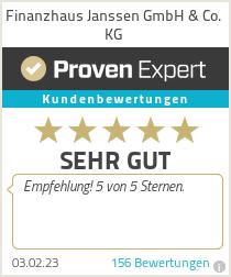 Erfahrungen & Bewertungen zu Finanzhaus Janssen GmbH & Co. KG