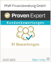 Erfahrungen & Bewertungen zu Pfaff Finanzberatung GmbH