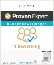 Erfahrungen & Bewertungen zu HS GmbH
