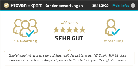 Erfahrungen & Bewertungen zu HS GmbH anzeigen