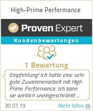 Erfahrungen & Bewertungen zu High-Prime Performance