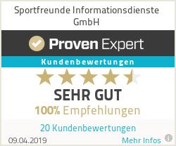 Erfahrungen & Bewertungen zu Sportfreunde Informationsdienste GmbH