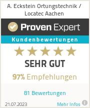 Erfahrungen & Bewertungen zu A. Eckstein Ortungstechnik / Locatec Aachen