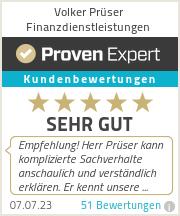 Erfahrungen & Bewertungen zu Volker Prüser Finanzdienstleistungen