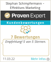 Erfahrungen & Bewertungen zu Stephan Schimpfermann - Effektives Marketing
