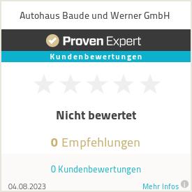 Erfahrungen & Bewertungen zu Autohaus Baude und Werner GmbH