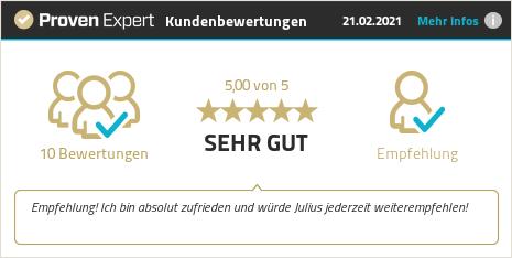 Kundenbewertungen & Erfahrungen zu Julius Teuber. Mehr Infos anzeigen.