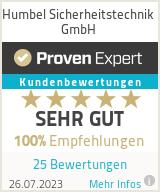 Erfahrungen & Bewertungen zu Humbel Sicherheitstechnik GmbH