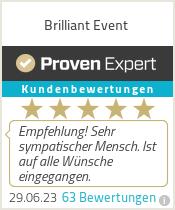 Erfahrungen & Bewertungen zu Brilliant Event