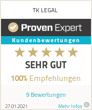 Erfahrungen & Bewertungen zu TK LEGAL