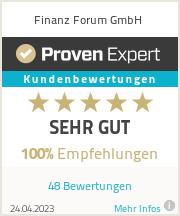 Erfahrungen & Bewertungen zu Finanz Forum GmbH