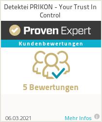 Erfahrungen & Bewertungen zu Detektei PRIKON - Your Trust In Control