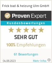Erfahrungen & Bewertungen zu Frick bad & heizung Ulm GmbH