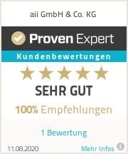 Erfahrungen & Bewertungen zu aii GmbH & Co. KG