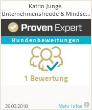 Erfahrungen & Bewertungen zu  Katrin Junge. Unternehmensfreude  Mindset Trainer Sparringspartner für Unternehmer