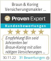 Erfahrungen & Bewertungen zu Braun & Koring Versicherungsmakler GmbH