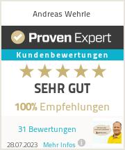 Erfahrungen & Bewertungen zu Andreas Wehrle