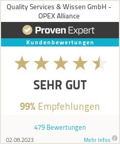 Erfahrungen & Bewertungen zu Quality Services & Wissen GmbH