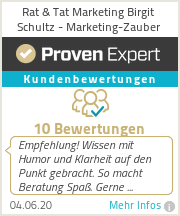Erfahrungen & Bewertungen zu Rat & Tat Marketing Birgit Schultz - Marketing-Zauber