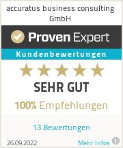 Erfahrungen & Bewertungen zu accuratus business consulting GmbH