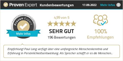 Kundenbewertungen & Erfahrungen zu Paul Lang | Speaker & High Performance Coach. Mehr Infos anzeigen.