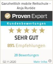 Erfahrungen & Bewertungen zu Ganzheitlich mobile Reitschule - Anja Ruröde