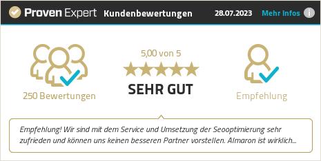 Erfahrungen & Bewertungen zu ALMARON GmbH & Co. KG anzeigen