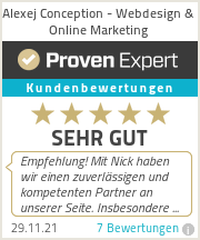 Erfahrungen & Bewertungen zu Alexej Conception - Webdesign & Online Marketing