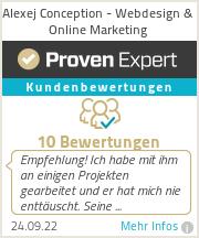 Erfahrungen & Bewertungen zu Alexej Conception - Webdesign & Online Marketing