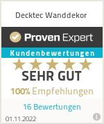 Erfahrungen & Bewertungen zu Decktec Wanddekor
