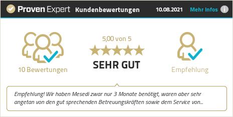 Kundenbewertungen & Erfahrungen zu Mesedi Beratungs & Vermittlungs GmbH & Co. KG. Mehr Infos anzeigen.