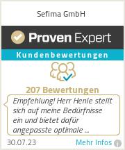 Erfahrungen & Bewertungen zu Sefima GmbH