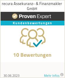 Erfahrungen & Bewertungen zu recura Assekuranz- & Finanzmakler GmbH