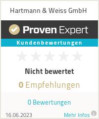 Erfahrungen & Bewertungen zu Hartmann & Weiss GmbH