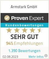 Erfahrungen & Bewertungen zu Armstark GmbH
