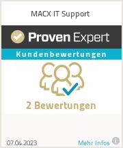 Erfahrungen & Bewertungen zu MACX IT Support