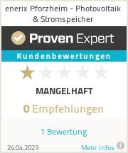 Erfahrungen & Bewertungen zu enerix Pforzheim - Photovoltaik & Stromspeicher